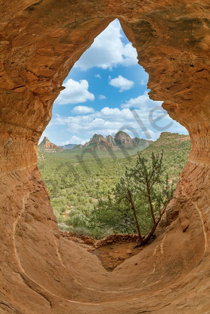 Art Print Sedona Arizona Birthing Cave