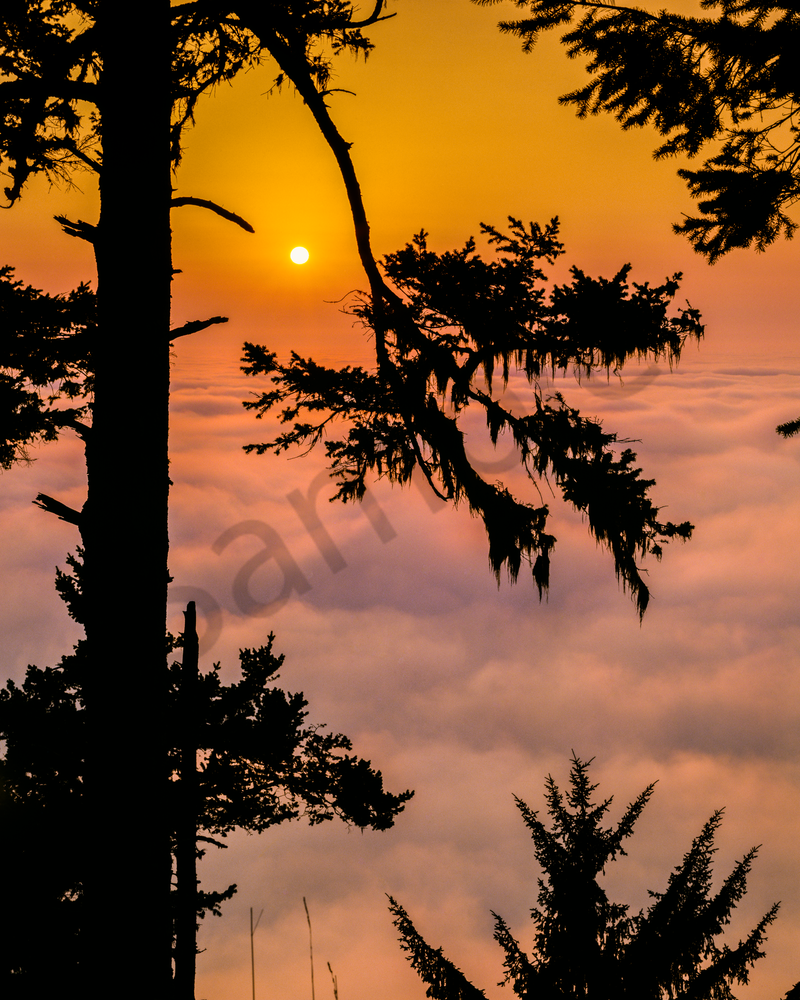 Fine Art Print   Breathtaking Sunset Above the Clouds