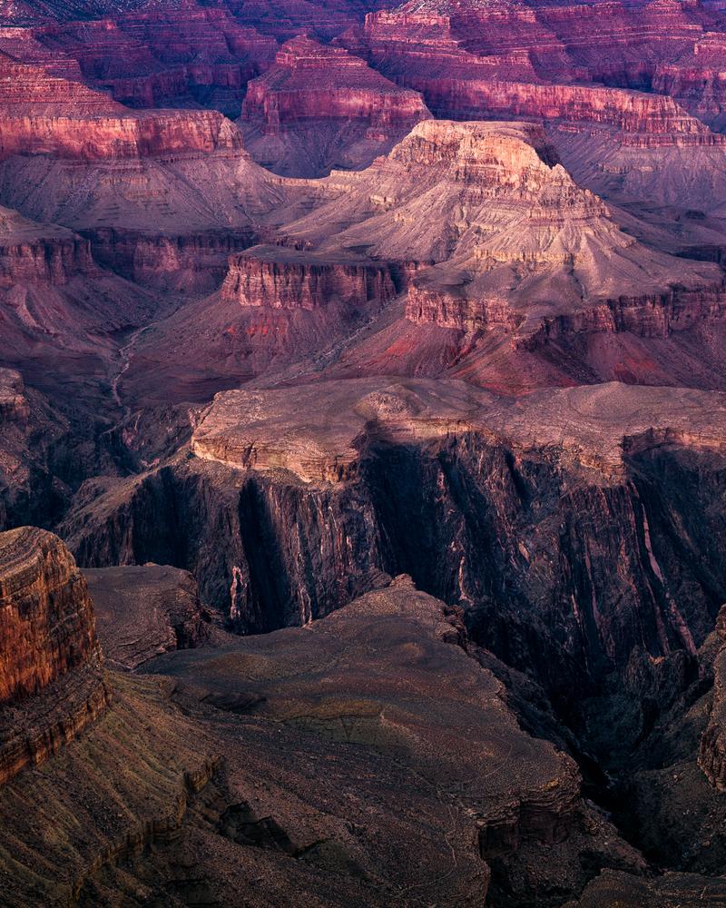 Fine Art Print   Grand Canyon at Dusk at Hopi Point