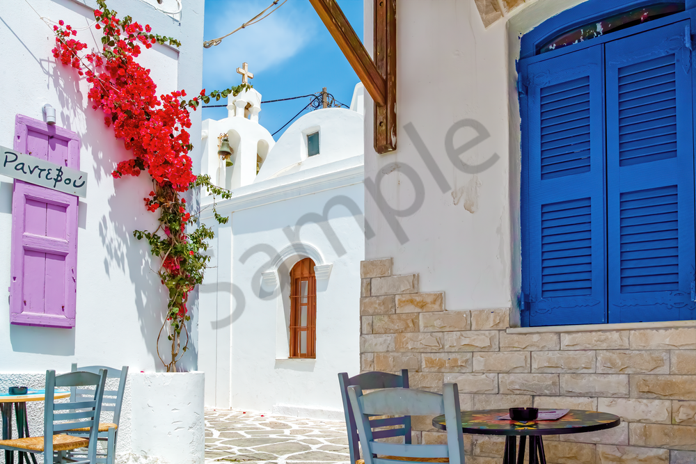 Art Print Antiparos Greece Hippie Island