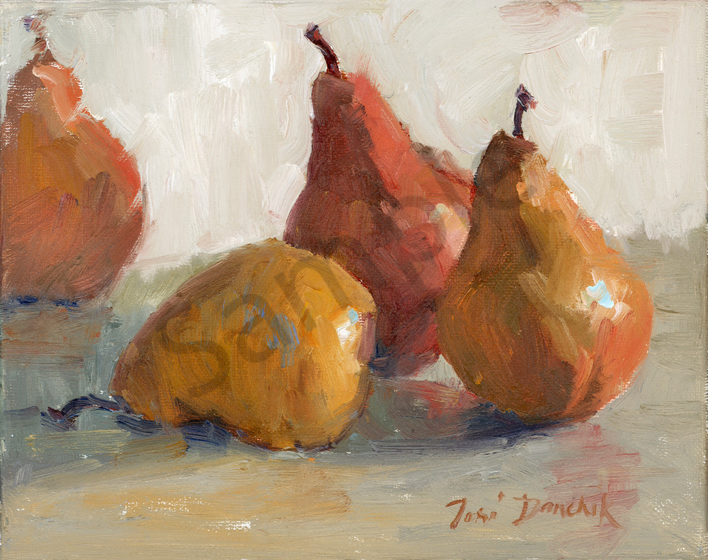 Pears on Gray