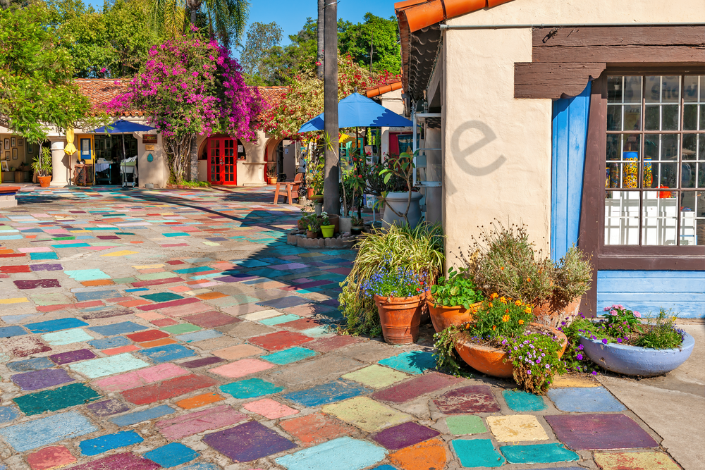 Art Print Balboa Park San Diego California Spanish Village