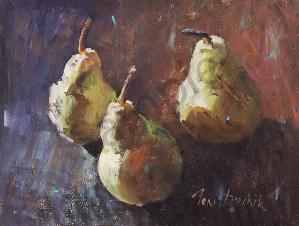 Three Rustic Pears Art | Toni Danchik Fine Art