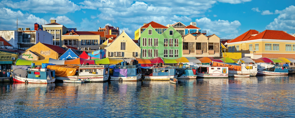 Art Print Willemstad Curacao Floating Market