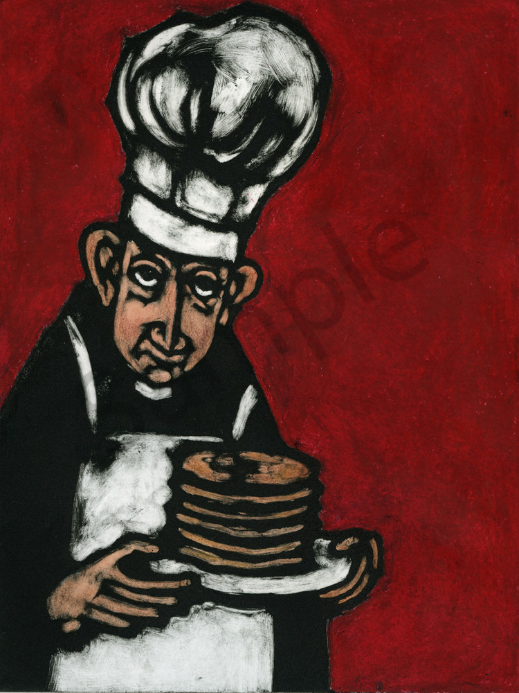 Father Lepardo's Big Stack Art   Studio 100 Productions - Paula Wallace Fine Art and Illustration
