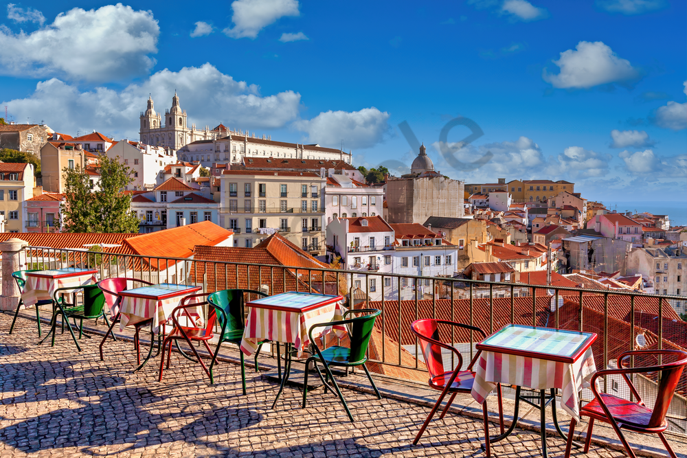 Art Print Lisbon Portugal White City