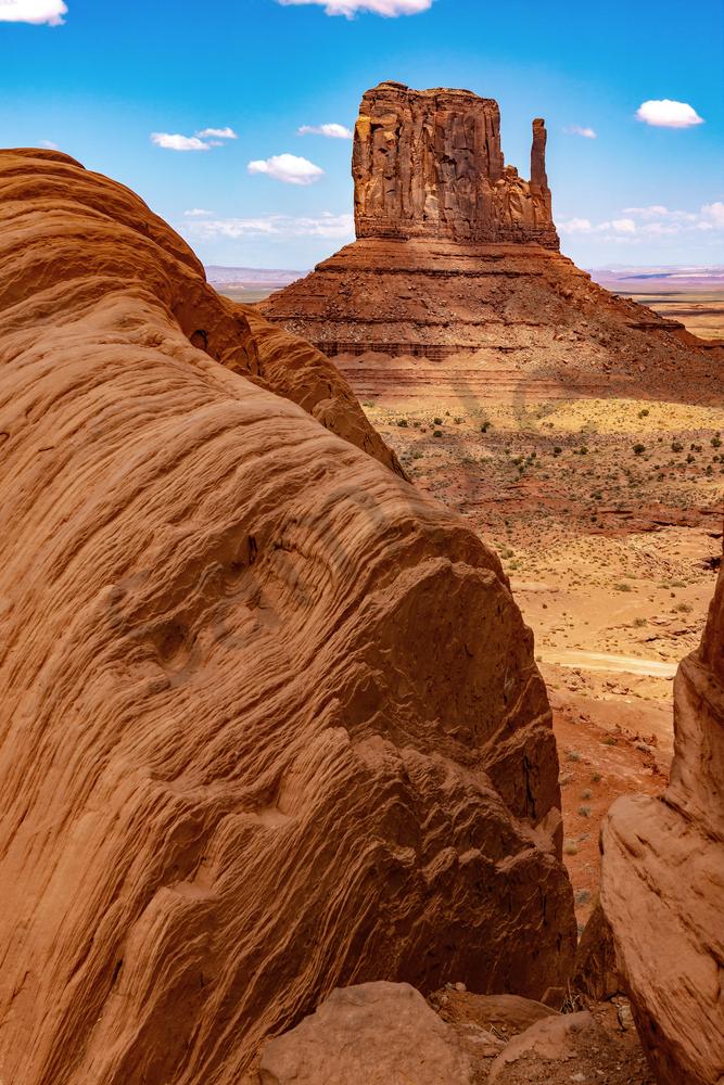 Art Print Monument Valley Arizona Mitten and Adam's Rock