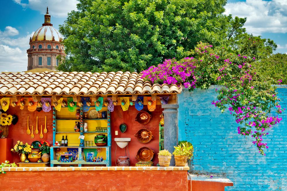 Art Print Casa Luna San Miguel De Allende Mexico Rooftop View