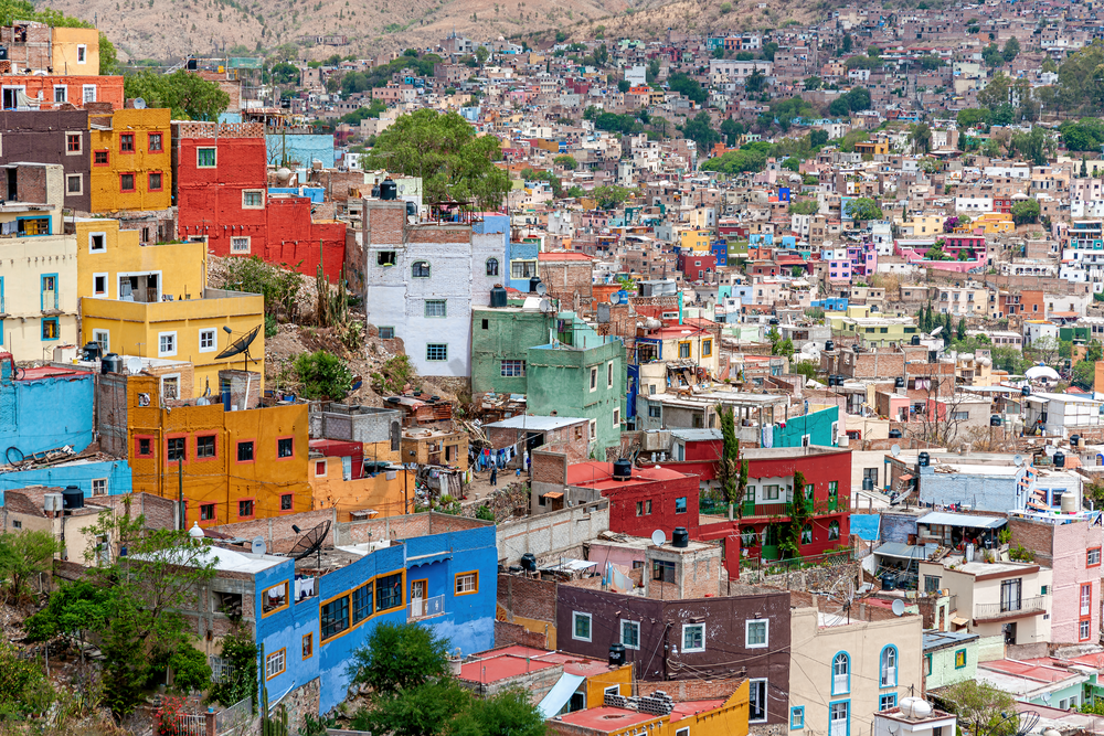 Art Print Guanajuato Mexico City Skyline Overlook