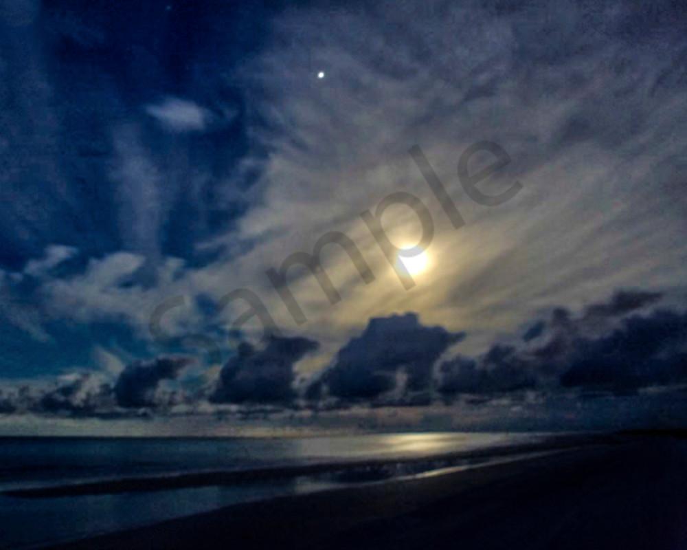 Moonset Over Siesta Photography Art | It's Your World - Enjoy!