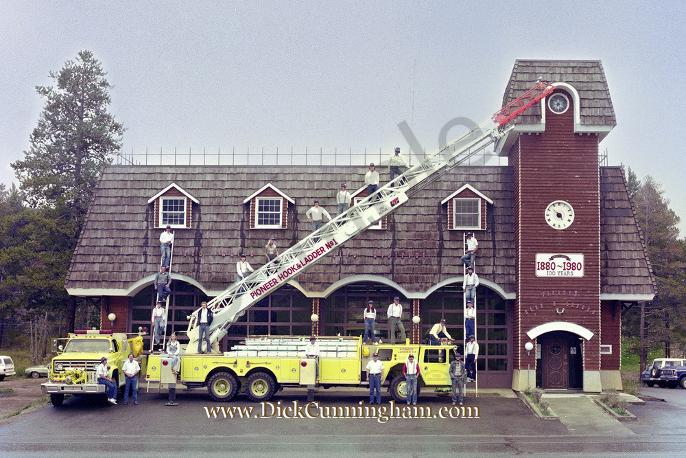 Red White And Blue Fire Dept 1980 Art   Cunningham Gallery
