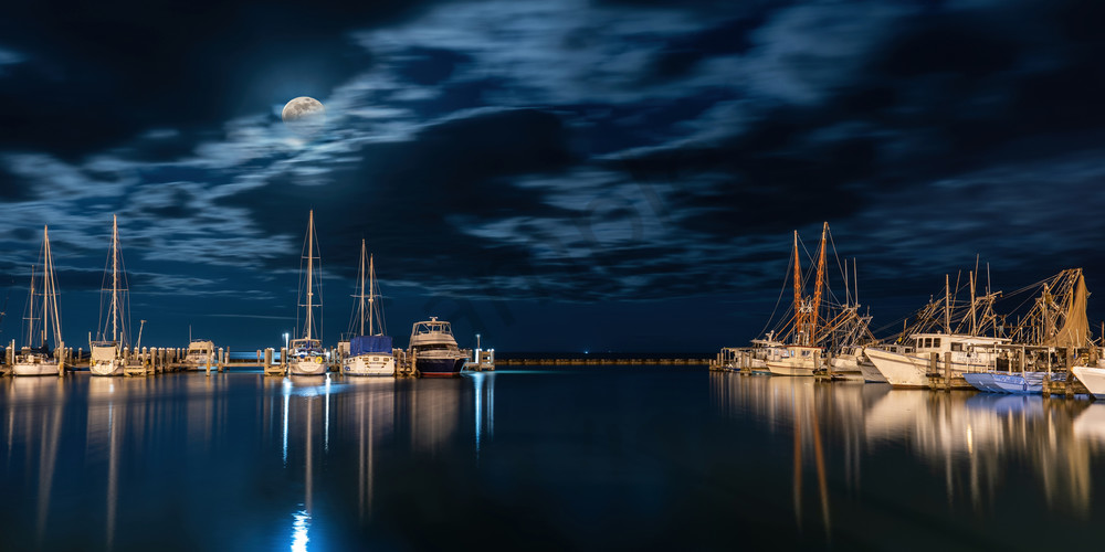 Harbor Moon Photography Art | John Martell Photography