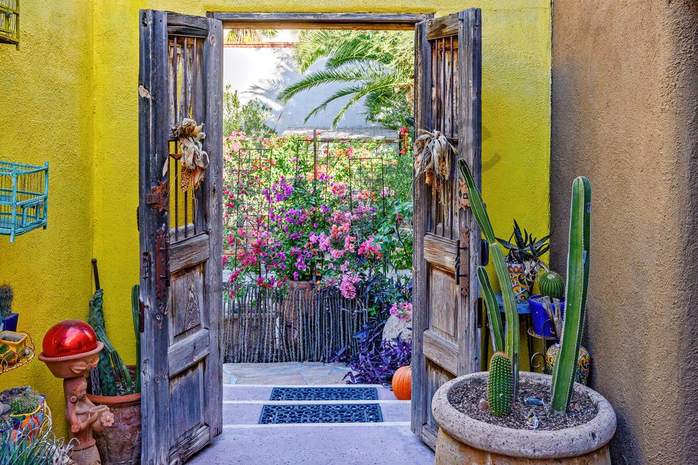 Art Print Tucson Arizona Open Courtyard