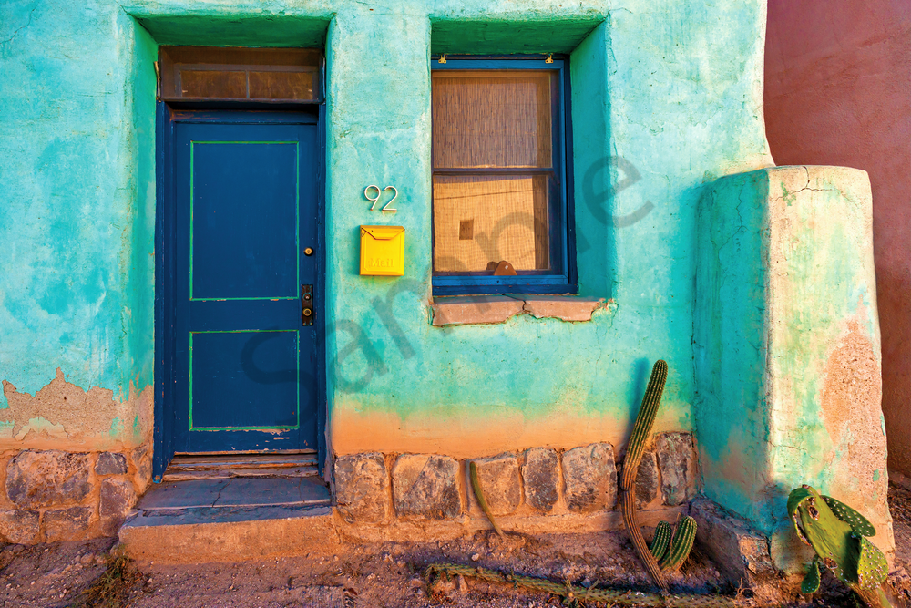 Art Print Tucson Arizona Tiny Yellow Box