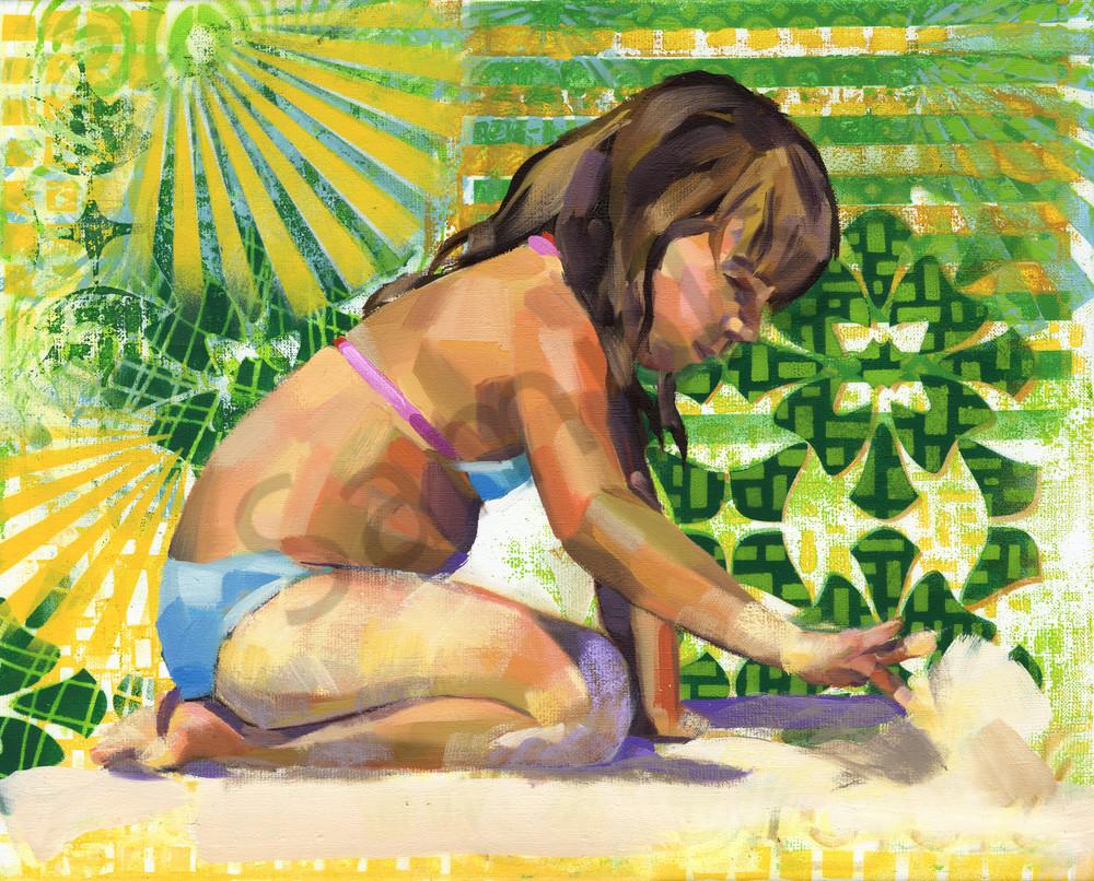 Caribbean Beach Scene V Art   Bianca Berends