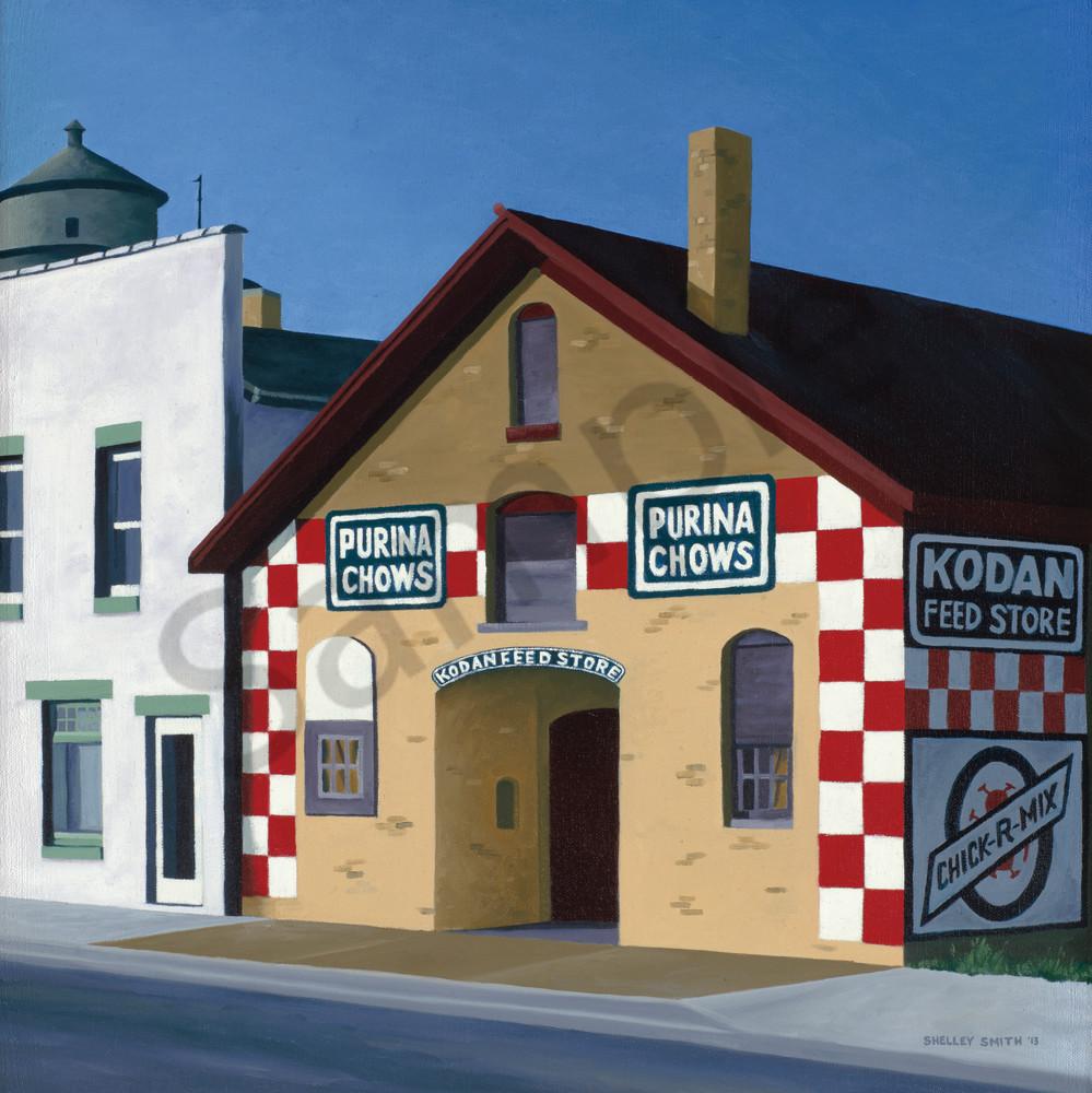 Feed Store Sunlight | Fine Art Print | Checkerboard