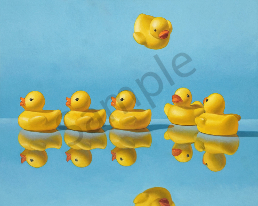 """""""Getting All Your Ducks in a Row"""" print by Kevin Grass"""