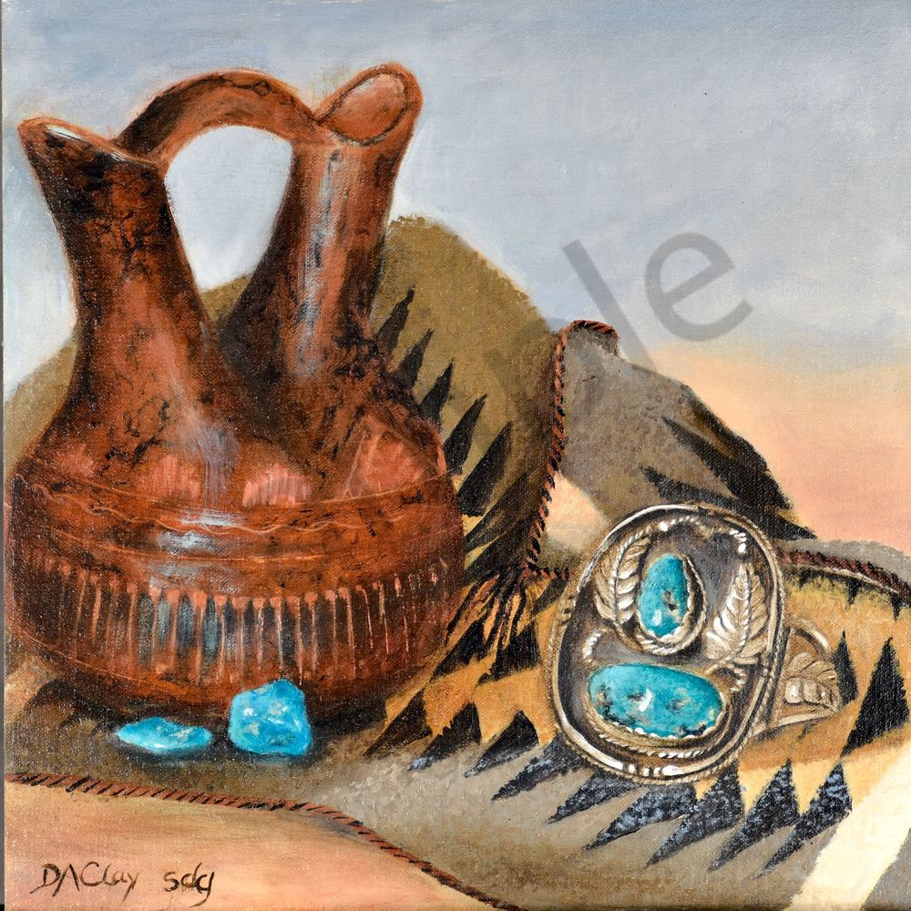 Wedding Vase Vintage Turquoise Bracelet