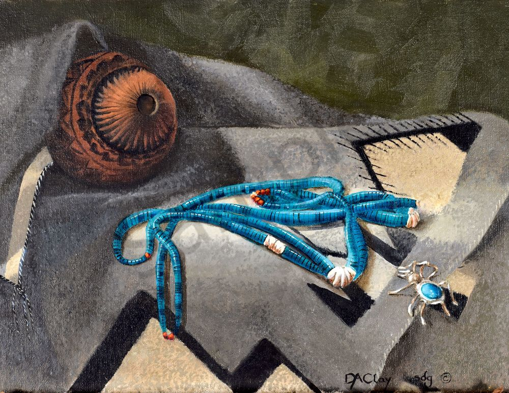 Turquoise Beads Sterling Silver Spider Wool Rug