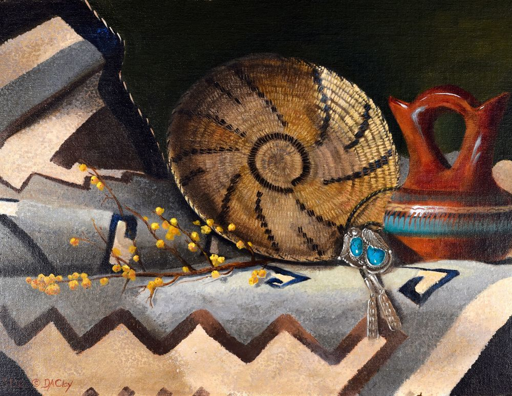 Turquoise Navajo Basket Wedding Vase