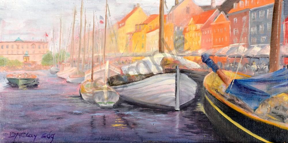 Copenhagen Canal Denmark Nyhavn Boat