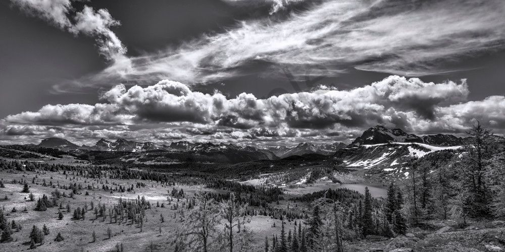 Clouds form over the Great Divide in Banff National Park. Canadian Rockies|Rocky Mountains|