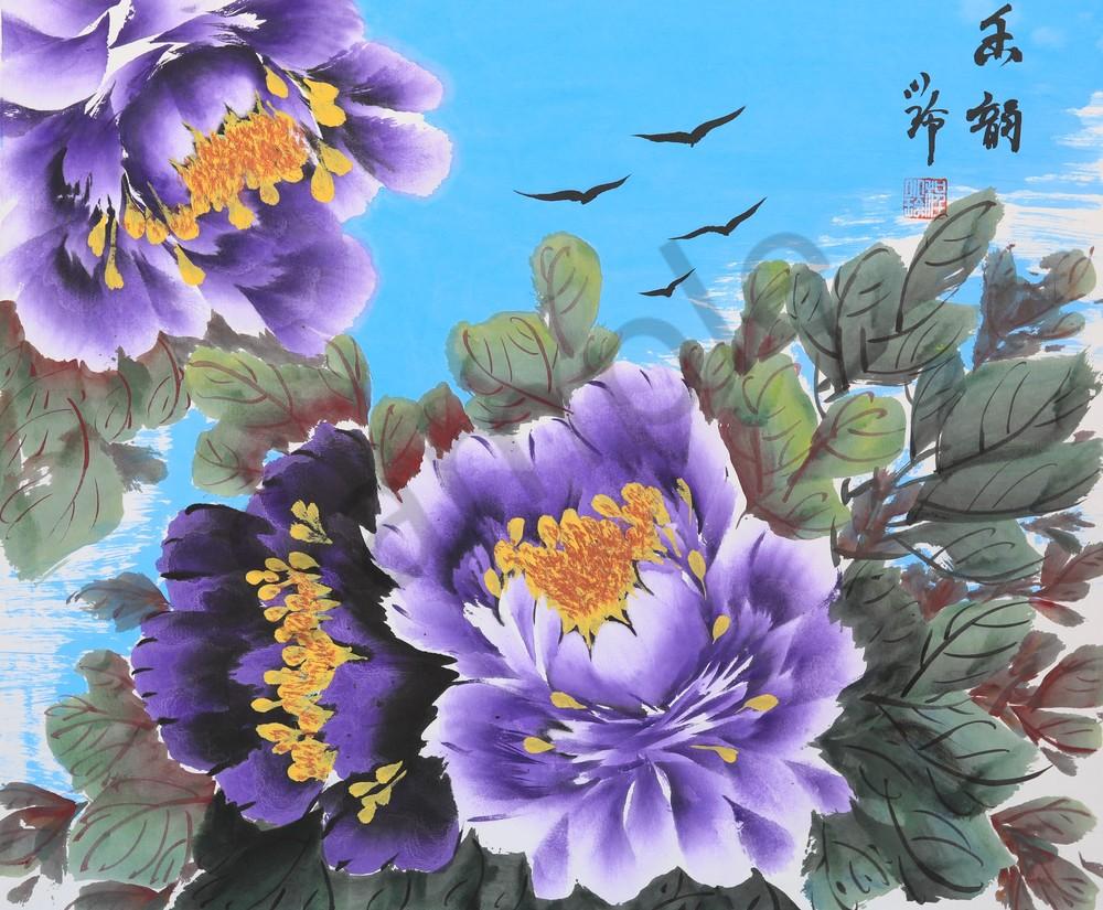 Wall Art, Purple Peony