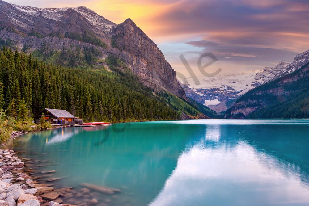 Art Print Lake Louise Banff National Park, Alberta Canada Turquoise Lake