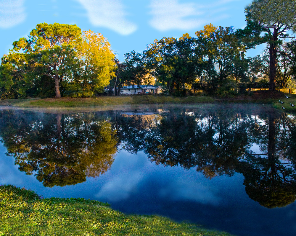 Reflected view of Pond at Sarasota Springs