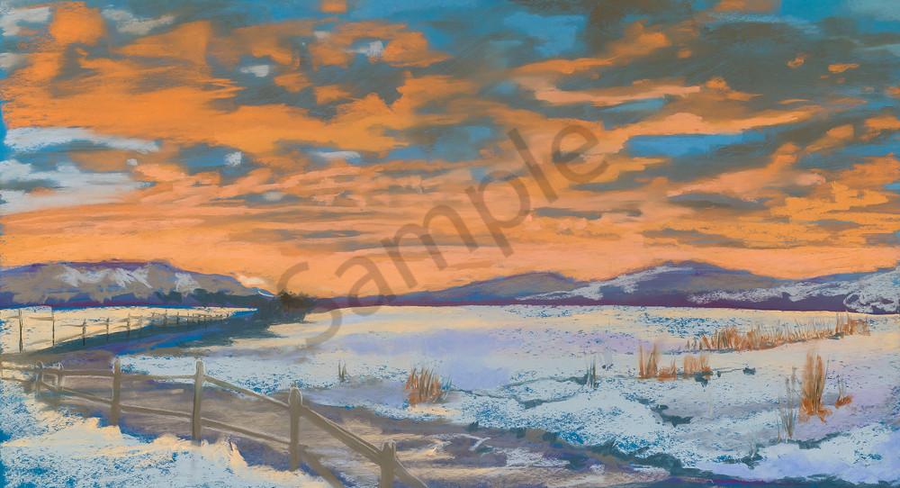 Kelly Bandalos / First Snow at Sunset