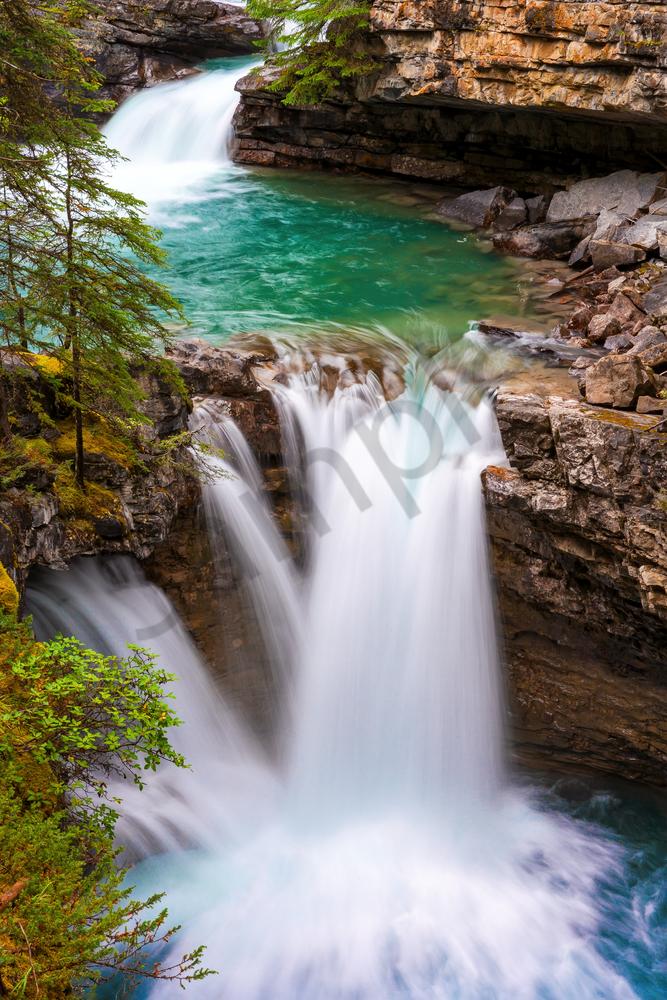 Print Art Jasper National Park Athabasca Falls