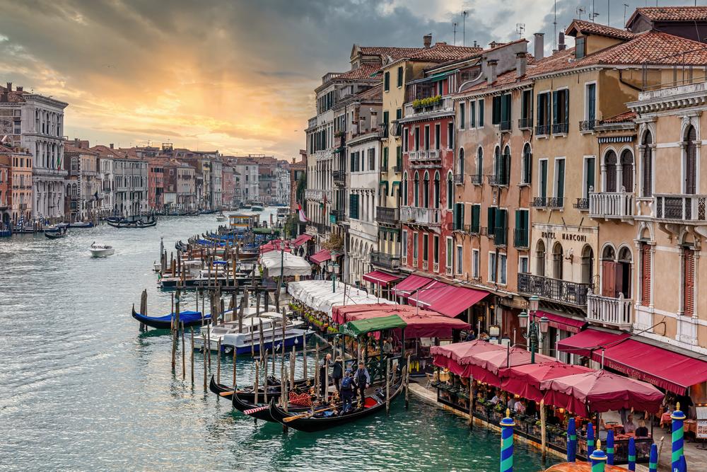 Art Print Venice Italy Venetian Sunset