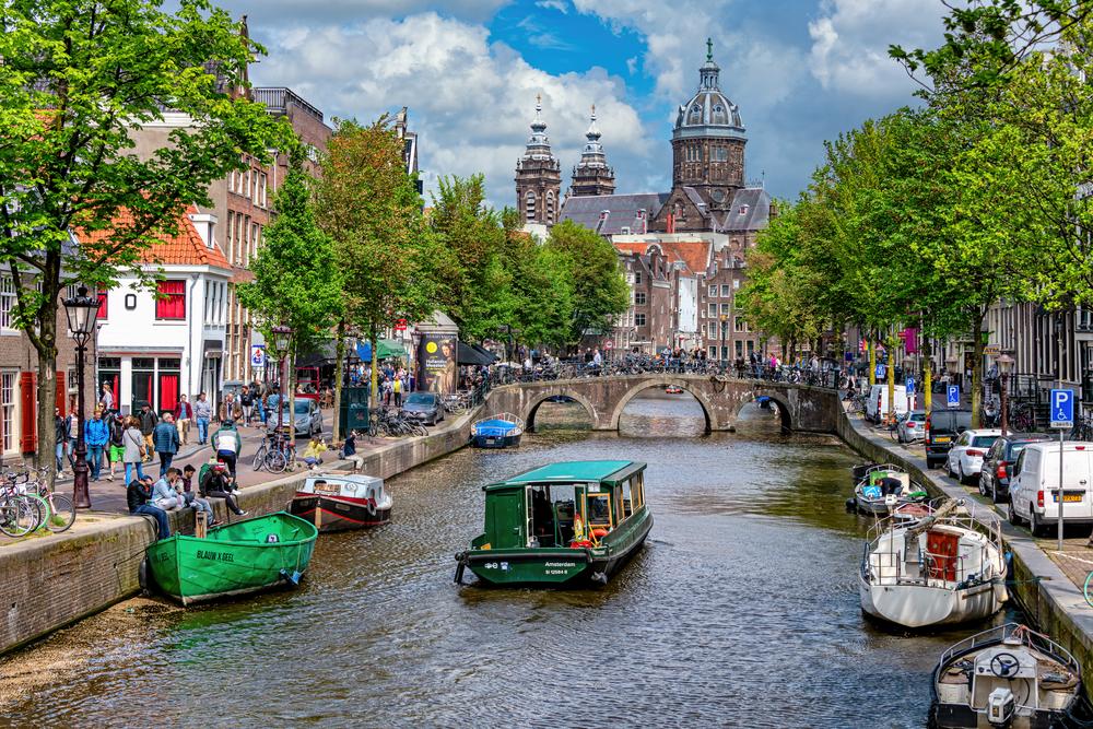 Art Print Centrum Noord Netherlands Amsterdam and Canal