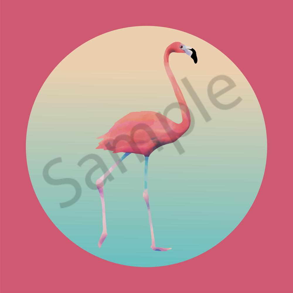 Pink Flamingo #3 Art | Davida Fernandez Studio
