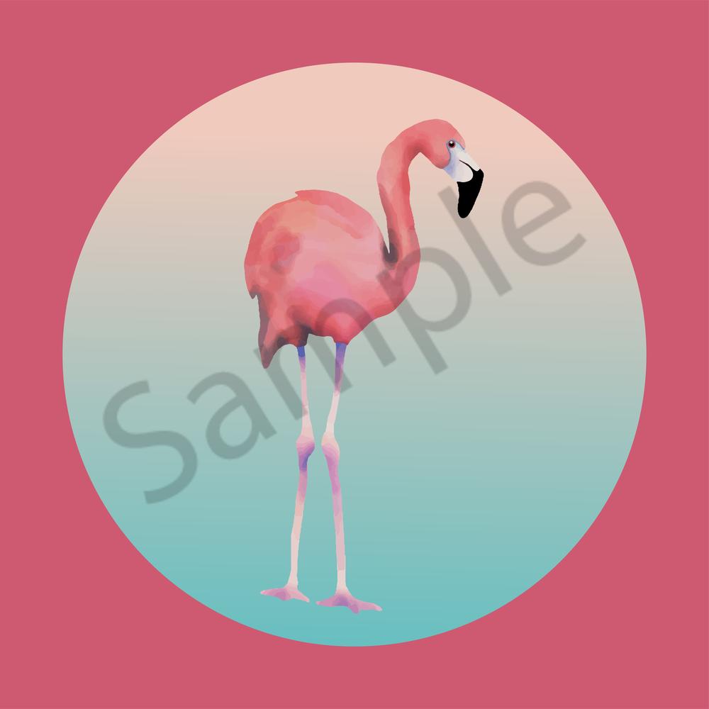 Pink Flamingo #2 Art   Davida Fernandez Studio