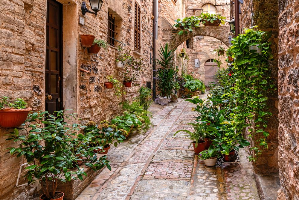 Art Print Spello Italy Italian Alleyway