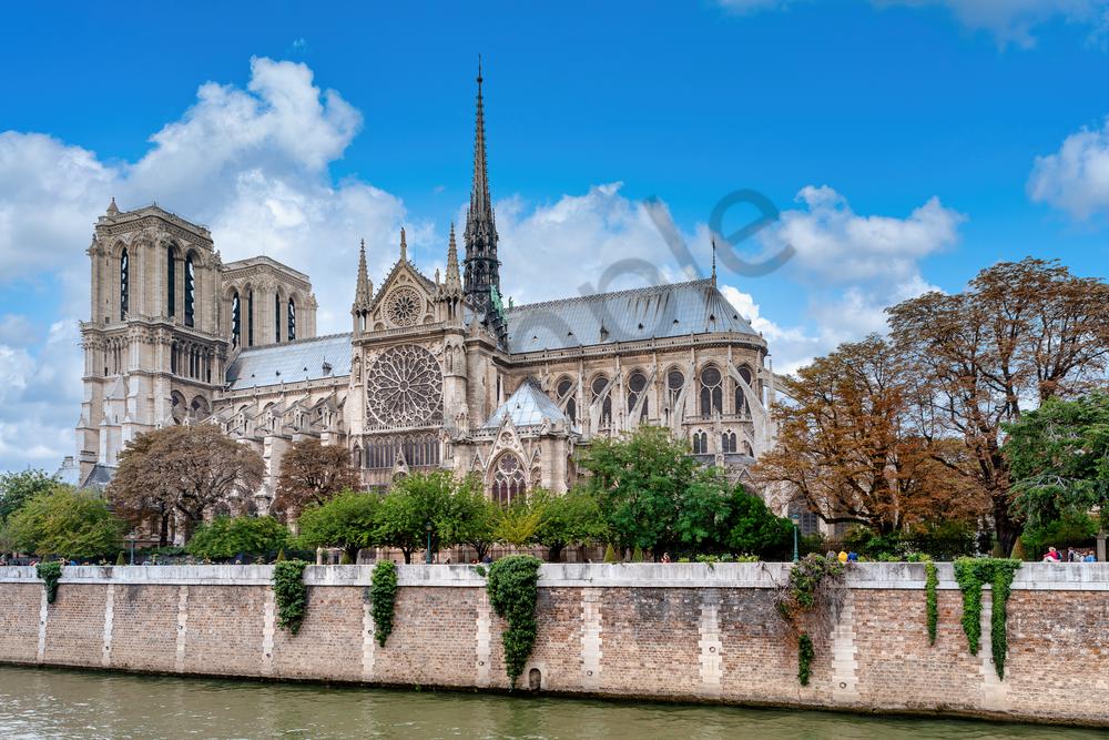 Print Art Paris France Notre Dame
