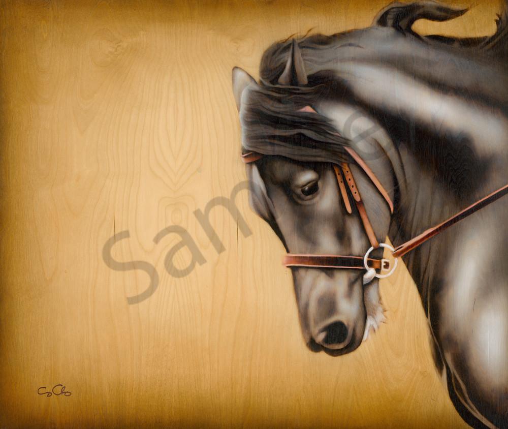 pyrography horse art onyx