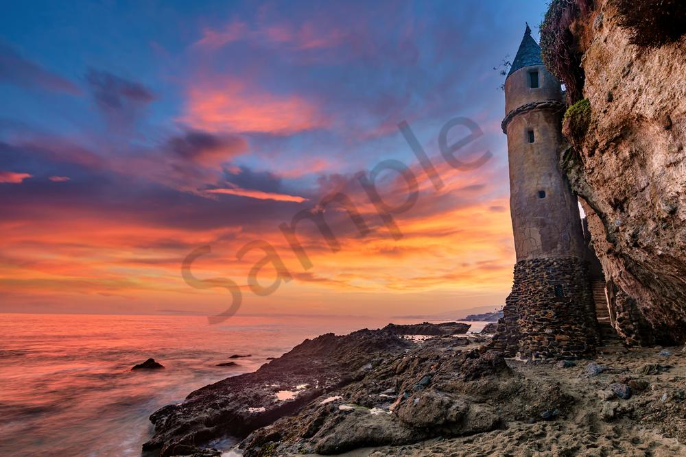 Art Print Victoria Beach Laguna California Pirate Tower