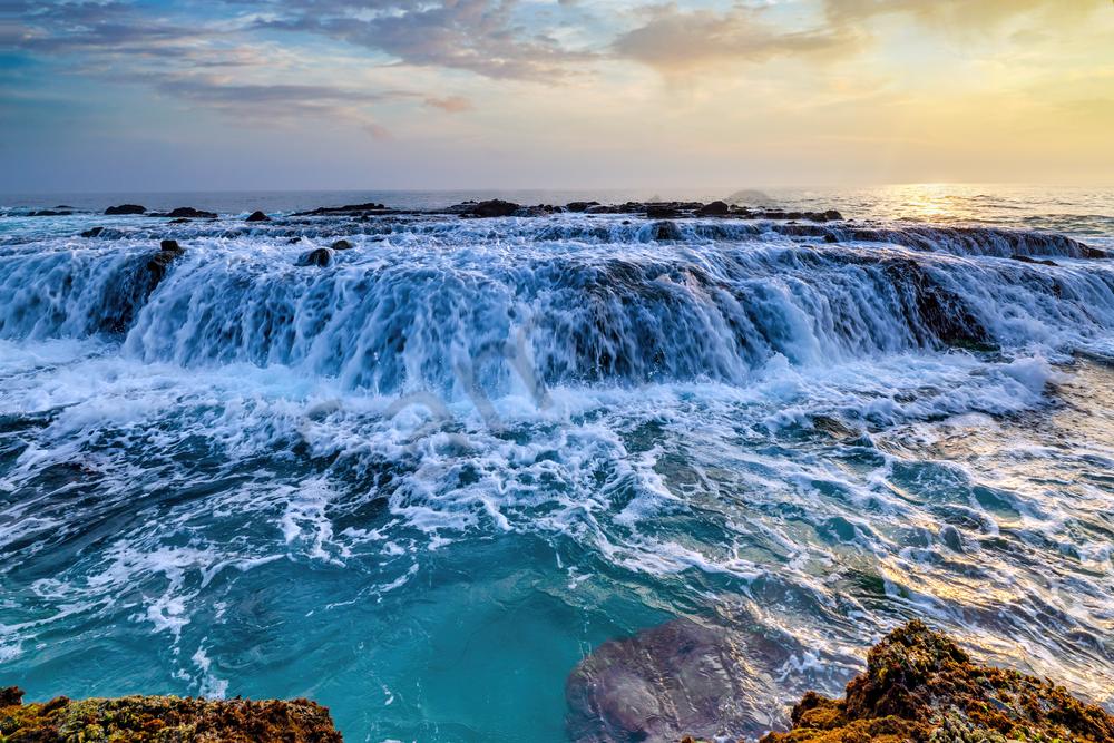 Art Print Victoria Beach Laguna Beach California Waves and Waterfalls