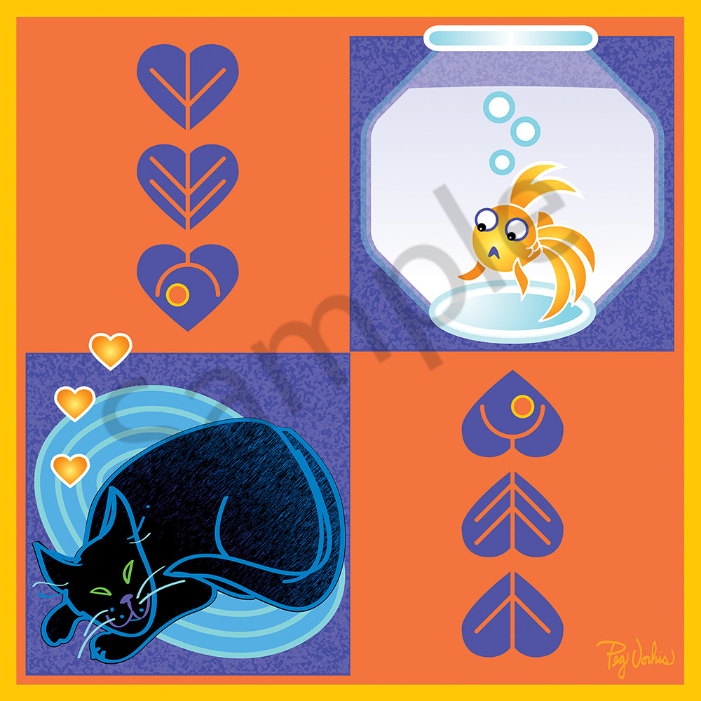 Cat Fish Art   Cincy Artwork