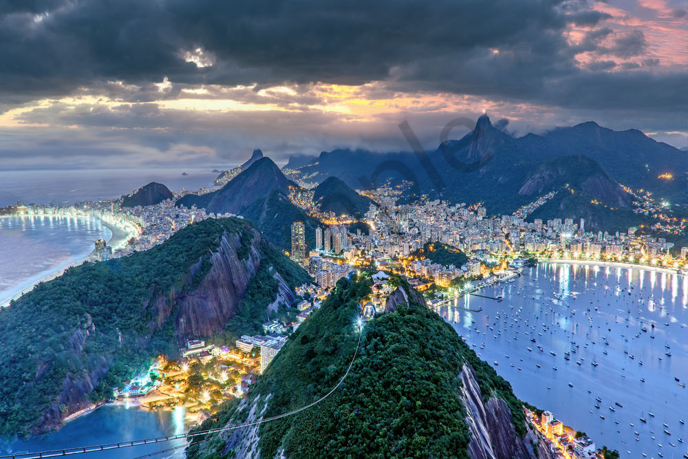 Print Art Rio de Janeiro Brazil River of January