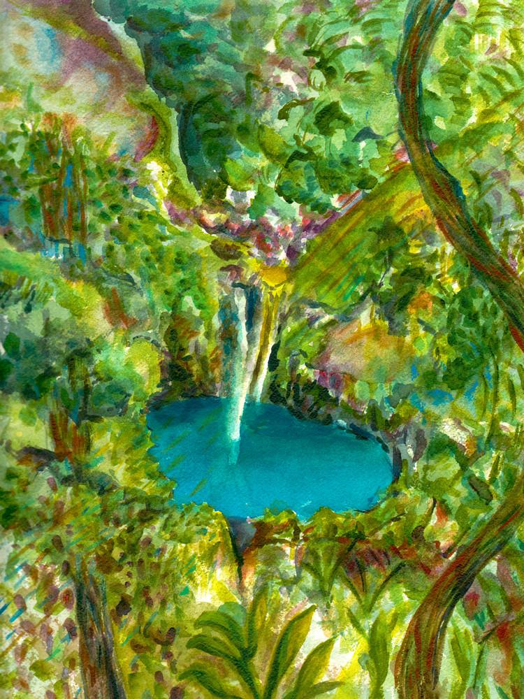 Waterfall Art   Marisela Bracho