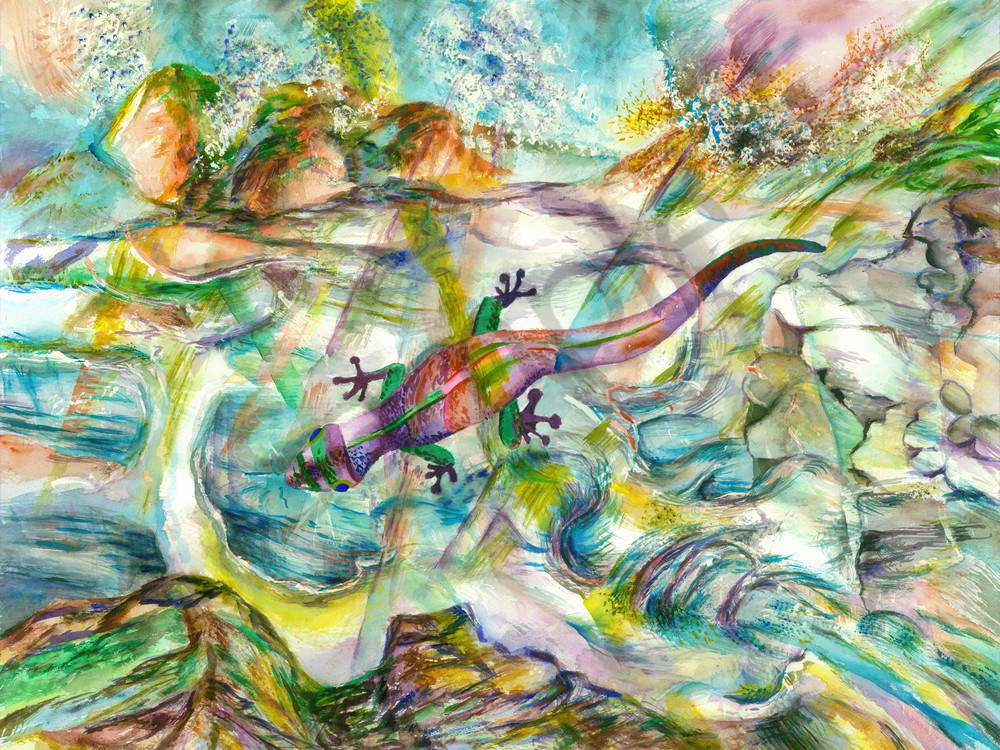 Water Gecko Art   Marisela Bracho