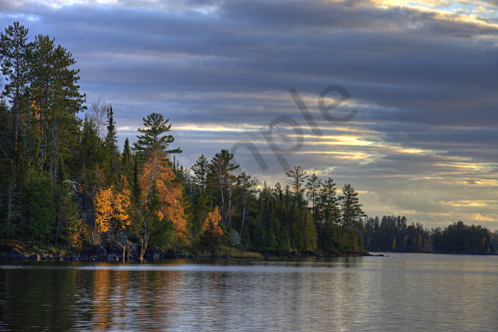 Cloudy Autumn Evening At The Lake Photography Art | LHR Images