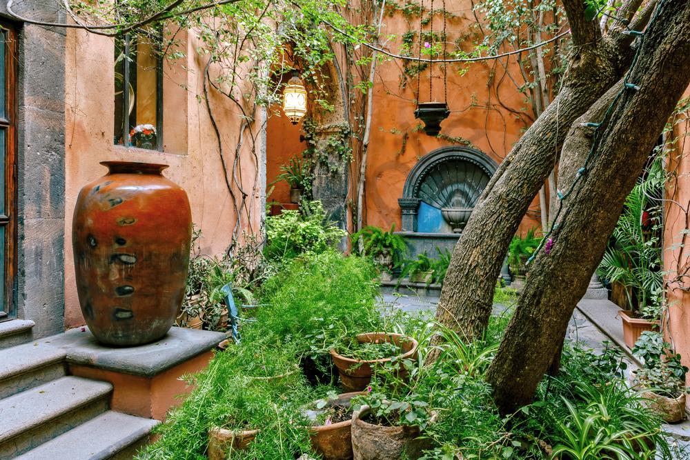 Print Art San Miguel de Allende Mexico Spanish Courtyard