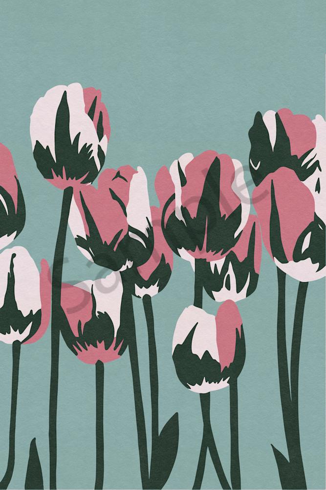 Limited Palette Tulips Art | Davida Fernandez Studio