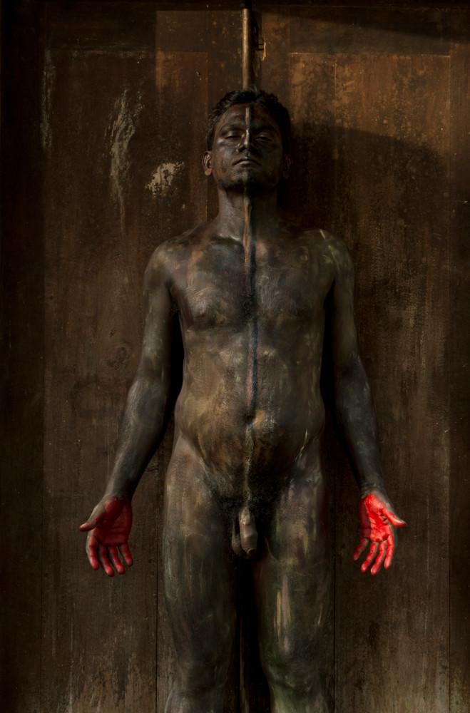 'wood Door' 2018, Sri Lanka Art | BODYPAINTOGRAPHY