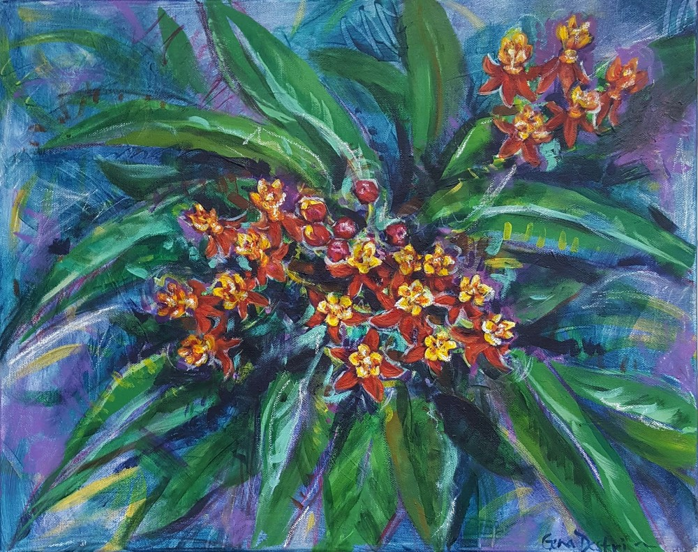 Tropical Milkweed Abstract fine art prints