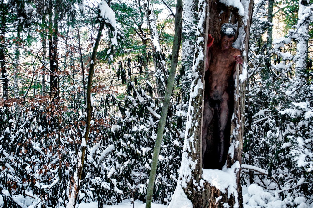 2014 Winter.Forest Massachussetts Art   BODYPAINTOGRAPHY